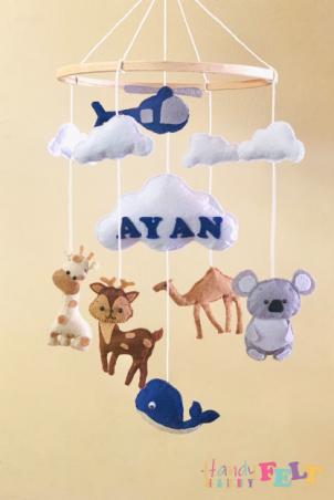 Plush Hanging Baby Toy 🐨🐒