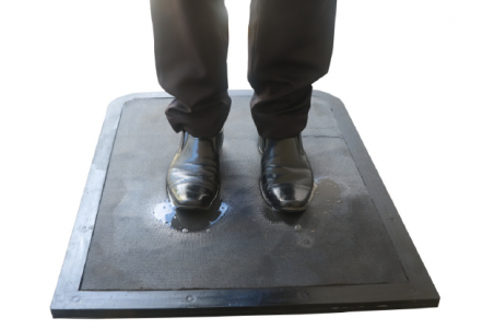 DSI RUBBER DISINFECTANT MAT - with soft pad